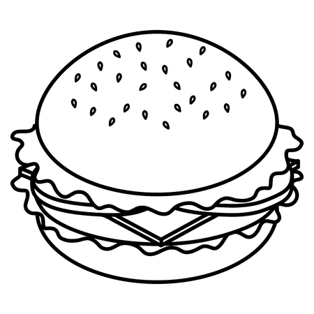 delicious burger fast food vector illustration design Фото со стока - 110421964
