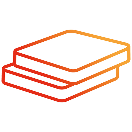 fresh bread toast isolated icon vector illustration design Standard-Bild - 110422010