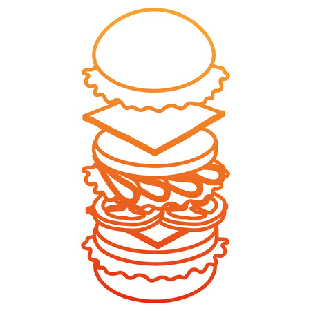 delicious burger fast food vector illustration design  イラスト・ベクター素材