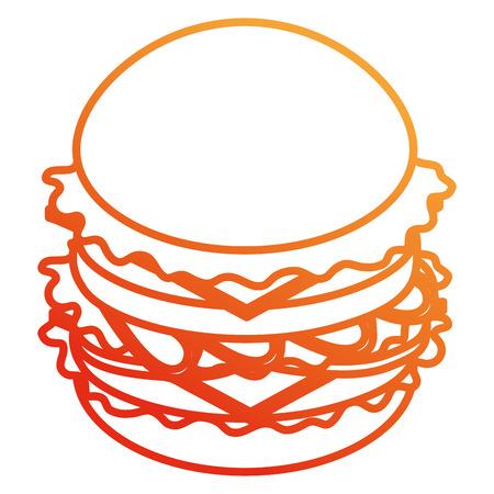 Deliciosa hamburguesa de comida rápida, diseño de ilustraciones vectoriales Ilustración de vector