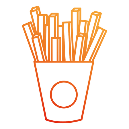 delicious french fries icon vector illustration design  イラスト・ベクター素材