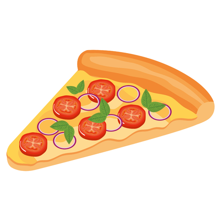 delicious italian pizza portion vector illustration design Imagens - 110422039