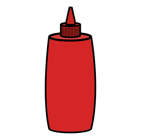 ketchup bottle isolated icon vector illustration design Ilustrace