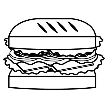 köstliche Burger Fast-Food-Vektor-Illustration Design