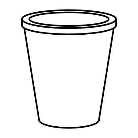 plastic container for fast food vector illustration design Illustration