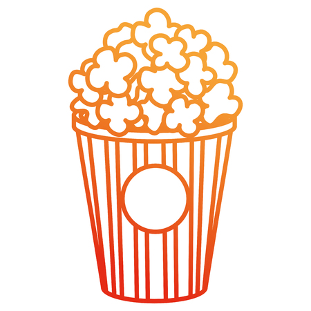 delicious pop corn icon vector illustration design