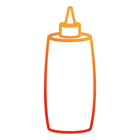 ketchup bottle isolated icon vector illustration design Illustration