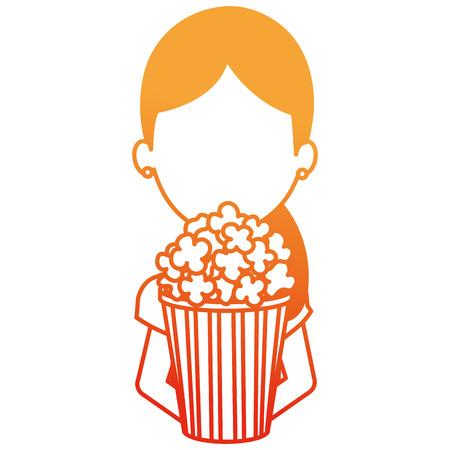 woman with pop corn character vector illustration design Standard-Bild - 107561256