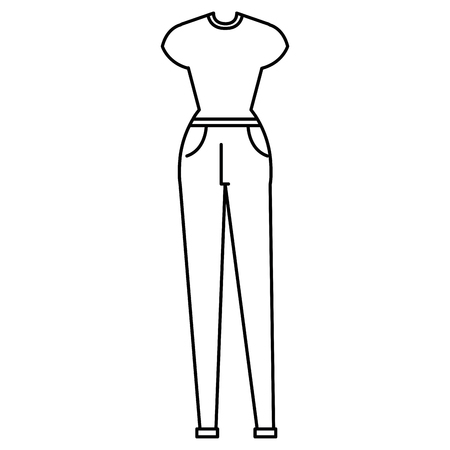 female clothes fashion icon vector illustration design