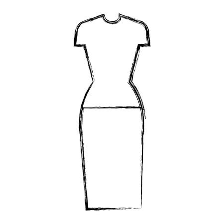 female clothes fashion icon vector illustration design