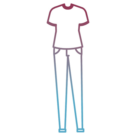 male clothes fashion icon vector illustration design Illusztráció