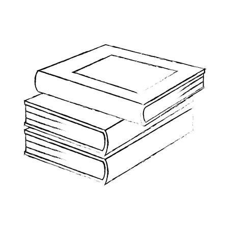 pile text books isolated icon vector illustration design Illusztráció