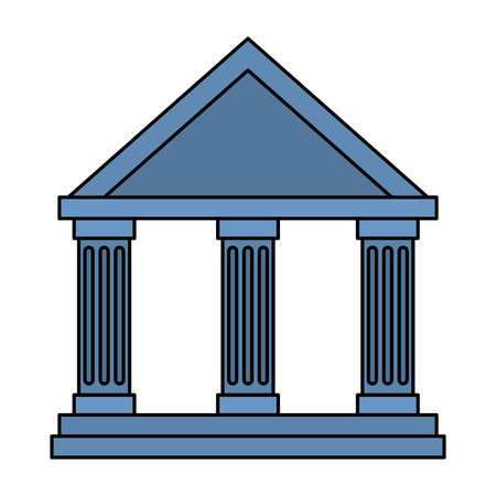 bank building isolated icon vector illustration design Illusztráció