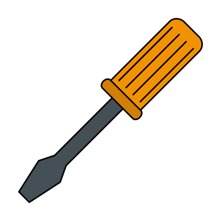 Progettazione dell'illustrazione di vettore dell'icona isolata strumento del cacciavite