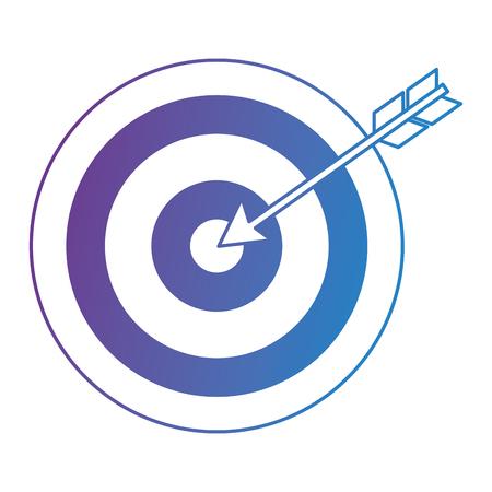 obiettivo con progettazione dell'illustrazione di vettore dell'icona della freccia Vettoriali