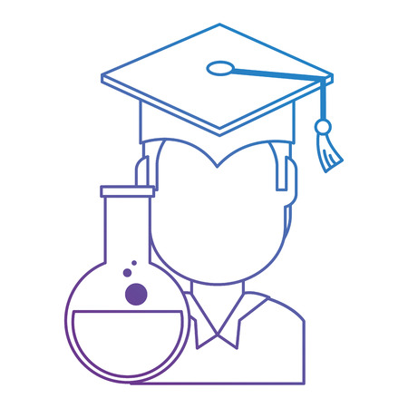 student graduated with tube test vector illustration design