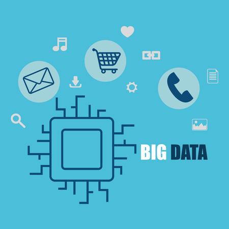 big data set icons vector illustration design