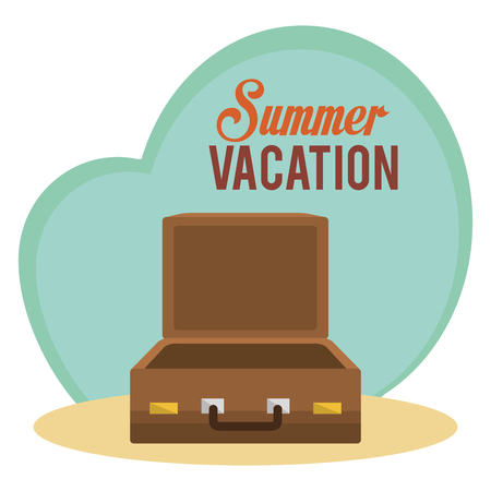 summer vacations with suitcase vector illustration design 向量圖像