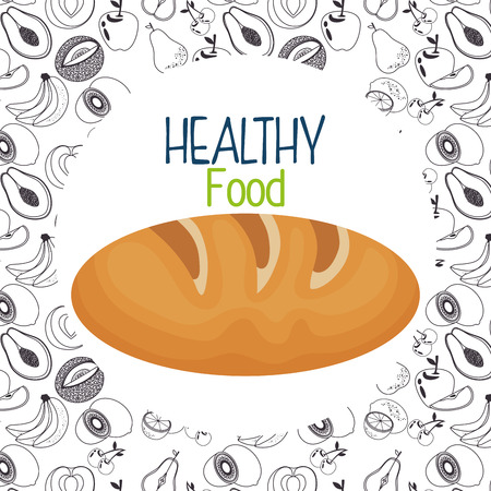 delicious bread healthy food vector illustration design 矢量图像