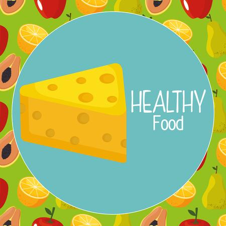 delicious cheese healthy food vector illustration design 向量圖像