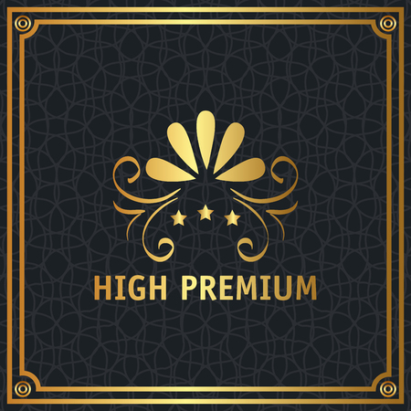high premium quality golden frame vector illustration design