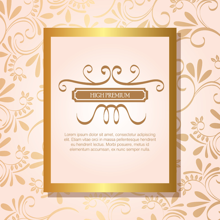 conception d'illustration vectorielle cadre doré de haute qualité