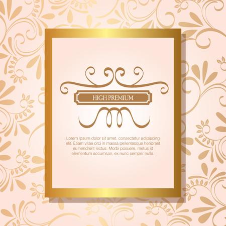 high premium quality golden frame vector illustration design