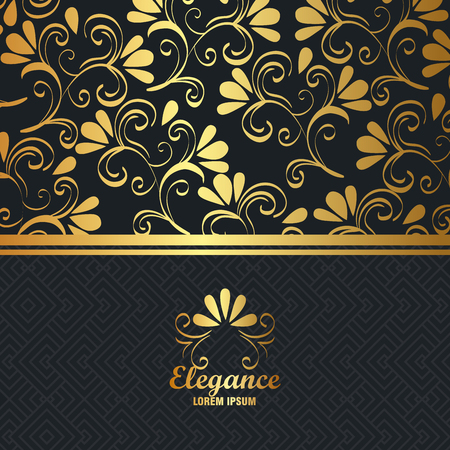 elegance style golden frame vector illustration design