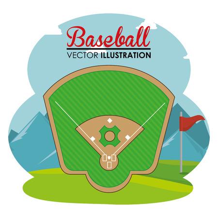 baseball sport with match diamond vector illustration design Stock Vector - 107597234
