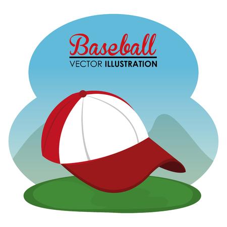 baseball sport cap icon vector illustration design