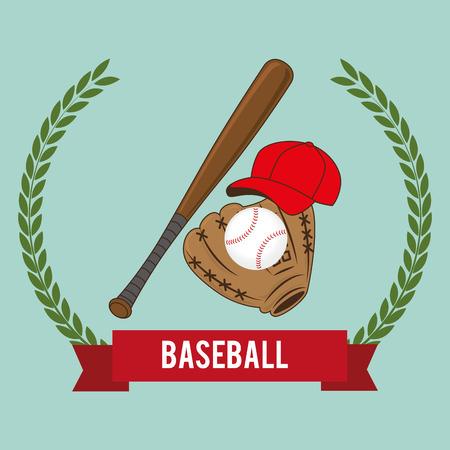 baseball sport bats and equipment vector illustration design Illustration
