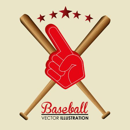baseball sport glove number one vector illustration design Stock Vector - 107603108