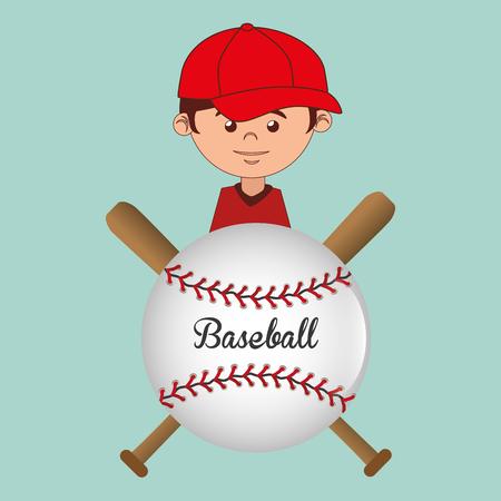baseball sport player character vector illustration design