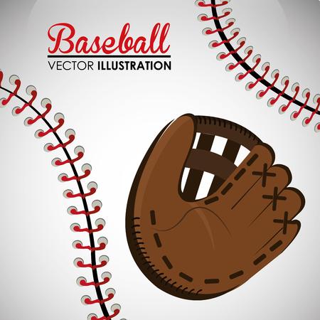 baseball sport glove equipment vector illustration design