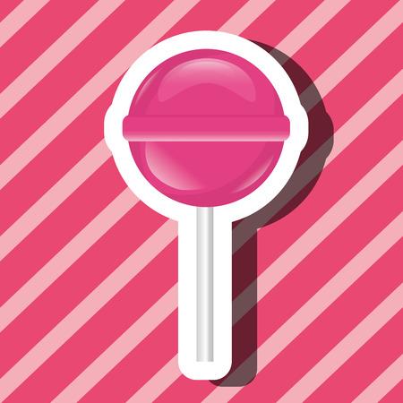 sweet candy lollipop pink background vector illustration Ilustração