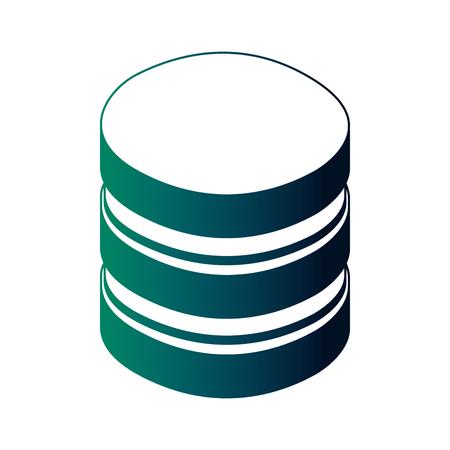 database center storage file system network vector illustration neon