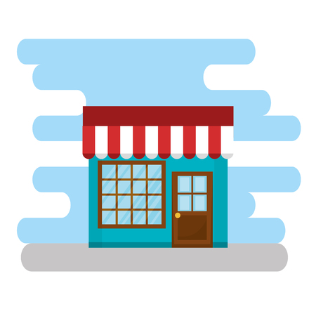 store building facade scene vector illustration design