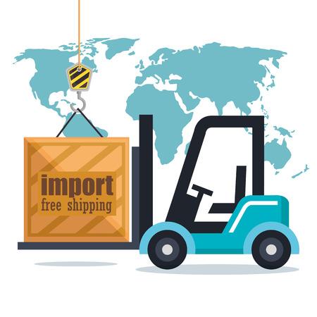 forklift delivery service icons vector illustration design Vecteurs