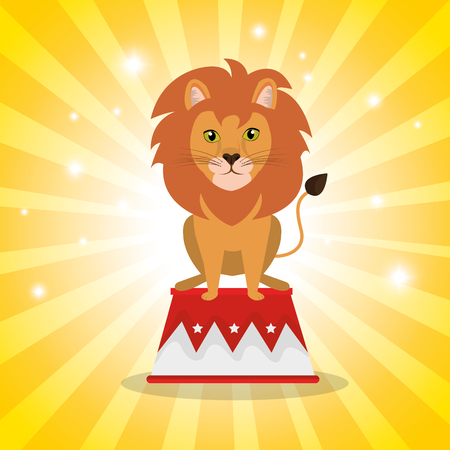 lion circus show icons vector illustration design 向量圖像