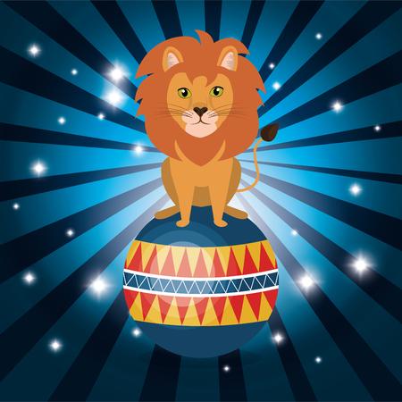 lion circus show icons vector illustration design