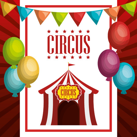 tent circus entertainment icon vector illustration design