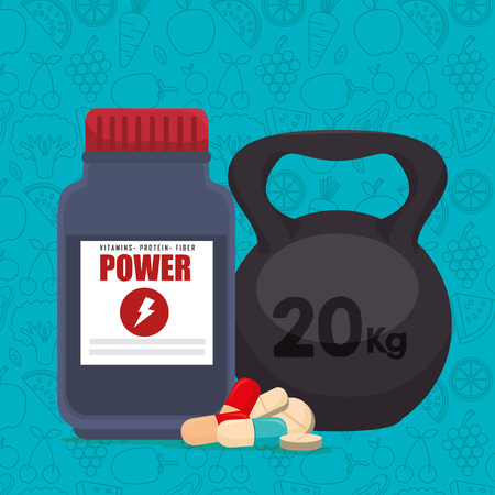 fitness and healthy icons vector illustration design Illustration
