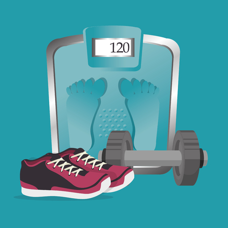 fitness and healthy icons vector illustration design 写真素材 - 107672015