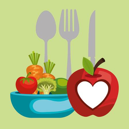 vegan diet healthy lifestyle vector illustration design Standard-Bild - 107672334