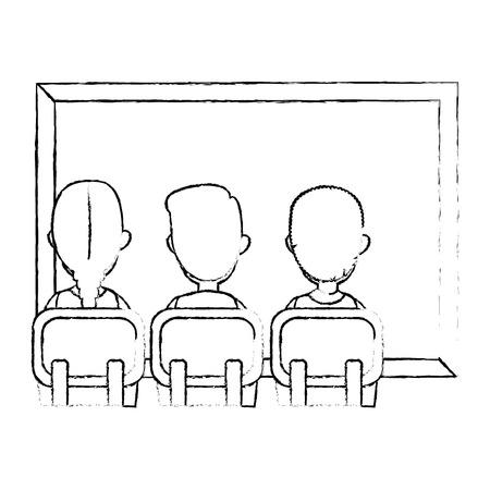 students class with chalkboard vector illustration design Stock fotó - 110300283