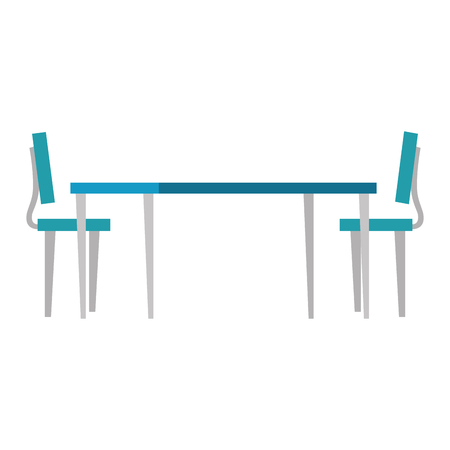 wooden table with chairs vector illustration design Фото со стока - 107673395
