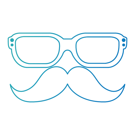 mustache and glasses hipster style vector illustration design Stock Vector - 110300651