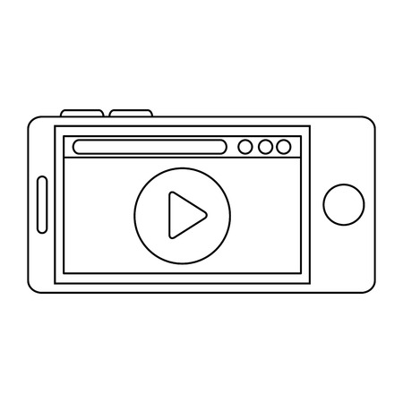 media player in smartphone vector illustration design Ilustração