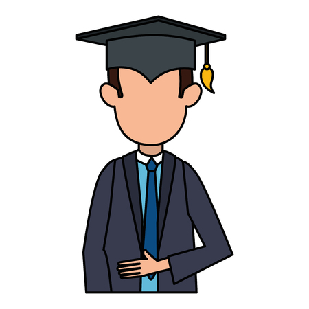 student graduated avatar character vector illustration design 版權商用圖片 - 110302990