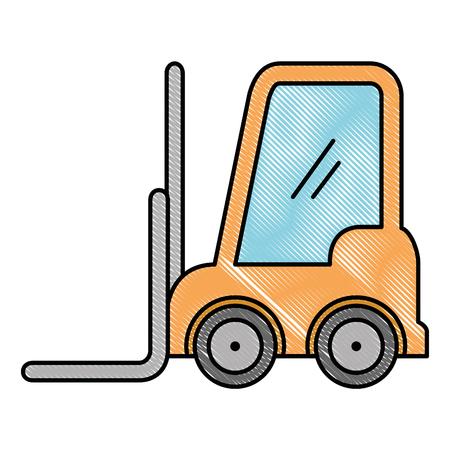 forklift vehicle isolated icon vector illustration design Ilustração
